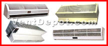 Buy the best air curtain fan devices.  We sell industrial and commercial air curtains in stackable sizes. Our air curtains come in 36 inch, 48 inch, and 60 inch size. An air curtain has several applications in HVAC and ventilation. Air curtains fans are used for: industrial drying purposes, food industry, restaurants, hotels, laboratory, commercial, and any place where an air barrier is desired. Air curtains also allow for two different temperatures and air pressures to be kept apart from two distinct spaces or rooms. Air curtains can be used with air conditioning systems as air doors. Our air curtains are ASHRAE, AMCO, UL, and IVS approved. We also sell door air curtains, heated air curtains, leading edge air curtains, entrance air curtains, dock door air curtains, garage door air curtains, kitchen door air curtains, overhead air curtains, and diffusion over door air curtains, commercial plastic door air curtains.