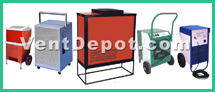 Ebac and Novel Air Technologies have developed the best refrigeration and desiccant dehumidifiers available. VentDepot sells dehumidifiers for tough industrial and commercial needs. Please enjoy quality dehumidifiers at great prices. New products such as portable dehumidifiers will ensure you stay dry anywhere you need dehumidification. Plus, we have infrared surface, wall, and floor dryers. Infrared and fan forced surface dryers. If you are in the military business then you should check the military dehumidifiers as well. Rug and floor dryers using fan forced air can be a great way to dry rooms quickly and efficiently.