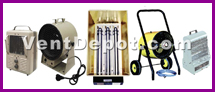 Industrial, Commercial, and Residential: Portable Heaters, Baseboard Heaters, Wall Mount Heaters, Ceiling Mount Heaters, Industrial Heaters, Electric Infrared Heaters, Spot Heaters, Heating Cables, Packaged Duct Heaters, Garage Heaters, and Solid Quartz Heaters are available in our store. Heaters are designed to provide extra heat to an environment by convection, radiation, or both. The electric heaters use electricity as their energy source. The gas heaters use Natural Gas, or L.P. gas as their source for energy. These heaters are approved by OSHA, ASHRAE, AMCO, UL, and IVS.