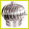 "Roof Turbine Vent for Industrial, Commercial, and Residential use. Available from 4"" to 24"" Turbine. Base not included. Aluminum Construction. Dual Ball Bearing System. 10 Year Warranty."