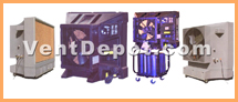 Evaporative coolers can be fixed or portable. Evaporative coolers are used to cool dry environments to about cool water temperature. They can be used for large, medium, and small Commercial and Industrial buildings. Smaller units are also used in homes and residences. Rule of thumb is to use these Evaporative Coolers in dry or semi dry environments so they work properly. Evaporative cooler units do not use refrigeration cycles for cooling, rather cool water is vaporized and blown to the cooling area. The cool water particles with air help remove heat from the dry air and with a proper ventilation system they can accomplish comfortable room or large space temperatures. These evaporative coolers are approved by IVS, ASHRAE, AMCO, OSHA, UL, and MEP engineers.