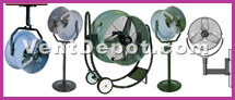 Jet Fans and High Speed Fans are designed to operate in in door and out door environments. Capable of blowing up to 100 feet distance, the Jet Fans work extremely well for those applications in which a large air flow is needed to reach an object from a far distance. Mounting types of the High Speed and Jet Fans Include: Pedestal, Wall or Post Mount, Ceiling, or Beam Mounts. Models are available in oscillating and none oscillating Jet Fans. These High Speed Fans are approved by IVS, ASHRAE, AMCO, OSHA, UL, and MEP engineers.