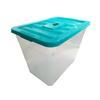 <b>Capacidad:</b> 78lts.<br> <b>Forma de Estiba:</b>  Apilable.<br> <b>Material:</b> Plástico Polietileno.<br> <b>Colores:</b> Turquesa.<br> <b>Aplicaciones:</b> El BoxPlastic  sirve para líquidos resistente, fácil de usar, 100% reciclable y eficaz. si hablamos de mercancías, para agrupar, proteger, almacenar, transportar y, en ocasiones, exponer la mercancía en el lugar de venta.<br> <b>Garantía:</b> Es aplicable en productos dañados o por defecto sujeto a cláusulas de VentDepot.<br> </FONT>