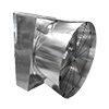 Poultry SLW Slanted Fan with Discharge Cone Belt Drive