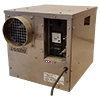 Desiccant Dehumidifiers are designed to bring down humidity levels to less than 30% Relative Humidity. They are excellent dryers both for home and industrial and commercial applications. They do not need a water pump, rather they exhaust the wet air thru air ducts leaving the drying space.