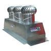 """<FONT size=1> <b>Material: </b> Aluminio Anodizado, Pintro ó Galvanizado<br> <b>Turbina: </b> 17"""" de Diámetro.<br> <b>Caudal de Extracción: </b> 13500 o 22500 m3/hr.<br> <b>Número de Turbinas: </b> Tres ó Cinco.<br> <b>Viento Máximo: </b> 240 Km/Hr.<br> <b>Estructura: </b> Con Sistema de Suspensión.<br> <b>Base: </b> Gigante de 32x86 ó 32x130"""", hasta pendientes 45º.<br> <b>Resistencia a Corrosión:</b> Excelente<br> <b>Tipo de Baleros:</b> Sellados Permanentemente.<br> <b>Número de Baleros:</b> Dos.<br> <b>Balero AutoLubricado:</b> Sí<br> <b>Flecha:</b> Barra Cilíndrica Sólida.<br> <b>Acabado:</b> Aluminio Anodizado.<br> <b>Color:</b> Aluminio.<br> <b>Ecológico:</b> Sí, bi-híbrido, eolico+gravitatorio<br> <b>Ahorra Energía Eléctrica:</b> Sí<br> <b>Extrae:</b> Aire Caliente, Olores, Humos, Vapores, Ambientes Salinos, Ambientes Corrosivos, Polvo en Suspensión, etc.<br> <b>Aplicaciones:</b> Naves Industriales, Almacenes, etc.<br> <b>Garantía:</b> Hasta 30 años<br> <b>Fabricación:</b> 0 a 5 días hábiles.<br> </FONT>"""