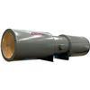 """<FONT size=1> <b>Caudal: </b>5400 a 11000 m³/hr. <br> <b>Presión Estática: </b>hasta 1.4"""" cda ó 35 mmcda. <br> <b>Aspas: </b>-. <br> <b>Material Aspas: </b> Aluminio. <br> <b>Color: </b> Gris. <br> <b>Material Carcasa: </b> Acero al carbón. <br> <b>Color: </b> Gris.<br> <b>Acoplamiento: </b> Directo.<br> <b>Motor: </b>1/2  a 1HP. <br> <b>Voltaje: </b> 230/460V.<br> <b>Fases: </b> 3<br> <b>Polos: </b>4 y 6. <br> <b>Uso: </b> Interior ó  Exterior. <br> <b>Temperatura: </b>80°C. <br> <b>Nivel Sonoro: </b>64 a 75 dB. <br> <b>Acabado: </b> Pintura epoxica gris.<br> <b>Flujo: </b> Inyector o Extractor. <br> <b>Aplicaciones:  </b> Fábricas, explotaciones avícolas, porcinas, ganaderas, invernaderos, fundiciones, almacenes, bodegas, estacionamientos de hoteles, centros comerciales y edificios en general. <br> <b>Norma: </b> NEMA. <br> <b>Garantía: </b> 1 año. <br> </FONT>"""