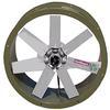 """<FONT size=1> <b>Caudal: </b>8920 hasta 51820 m³/hr. <br> <b>Presión Estática: </b>hasta 3""""cda ó 76 mmcda.<br> <b>Aspas: </b>24, 30, 36 y 42""""Ø .<br> <b>Material Aspas: </b> Aluminio Inyectado.<br> <b>Color: </b> Gris.<br> <b>Material Carcasa: </b> Acero al carbón .<br> <b>Color: </b> Verde opaco.<br> <b>Acoplamiento: </b>Directo.<br> <b>Motor: </b>1/2  a 7.5HP. <br> <b>Voltaje: </b> 220/440V.<br> <b>Fases: </b> 3<br> <b>Polos: </b>4, 6 y 8.<br> <b>Uso: </b> Interior ó  Exterior.<br> <b>Temperatura: </b>Hasta 120 °C<br> <b>Nivel Sonoro: </b>64 hasta 81 dB.<br> <b>Acabado: </b> Pintura Electrostática.<br> <b>Flujo: </b> Inyector o Extractor. <br> <b>Aplicaciones:  </b>Proyección de conductos, torres de enfriamiento, extracción de humo, gases de estacionamientos, túneles, etc.<br> <b>Norma: </b> NEMA. <br> <b>Garantía: </b> 1 año.<br> </FONT>"""