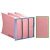 """<FONT size=1> <b>Eficiencia:</b> 90 al 95%.</b> <br> <b>Calificación MERV:</b> 12.</b> <br> <b>Tipo de Filtro:</b> Reemplazable. <br> <b>Material de Elemento Filtrante:</b> Poliéster</b> <br> <b>Dimensiones Nominal:</b> 20x20x12 hasta 24x24x36"""".</b> <br> <b>Espesor Nominal:</b> 12 a 36"""".</b> <br> <b>Mantenimiento:</b> Reemplazable.</b> <br> <b>Material de Marco:</b> Lámina Galvanizada Calibre 26.</b> <br> <b>Aplicación:</b> Captura: Polvos Finos. </b> <br> <b>Garantía:</b> En base al uso.<br> </FONT>"""