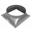"""Turbine Vent Bases are used for Industrial Buildings, Warehouses, Shops, Homes, and all occasion general ventilation. The Turbine Bases come in Aluminum, Galvanized Steel, Copper, and Stainless Steel. They range from 4"""" diameters to 30"""" diameters. Flat, Curb, Ridge, and single Slope options are available."""