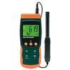 """<FONT size=1> <b>Humedad:</b> 50 a 95%RH <br> <b>Temperatura Tipo K:</b> -100 a 1300ºC <br> <b>Temperatura Tipo J:</b> -100 a 1200ºC <br> <b>Temperatura Aire:</b> 0 a 50 <br> <b>Punto de Rocio:</b> -25.3 a 48.9ºC <br> <b>Bulbo Húmedo:</b> -21.6 a 50ºC <br> <b>Funciones:</b> Registrador de datos, guarda lecturas en tarjeta SD. <br> <b>Escalas:</b>Humedad, Temperatura, Punto de rocío, Bulbo húmedo. <br> <b>Dimensión:</b> 9x5x4"""" <br> <b>Color:</b> Naranja/verde <br> <b>Aplicaciones:</b> Departamentos de Mantenimiento, Industrias, Fábricas, Máquinas, Residencias, Escuelas, Hospitales, Comercios, Edificios, Laboratorios, Bodegas, etc.<br> <b>Batería:</b> 6 x AAA <br> <b>Garantía:</b> 1 año. <br> </FONT>"""