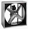 Intake wall fans are used to inject outside air into a building or facility. The Intake fan is built so the blades are on the outside of the fan and the motor sits in the inside part of the fan, helping reduce the risk of the motor getting wet or hit by the elements.