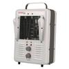 """<FONT Size=1> <b>Type:</b> 120 Volt """"Milk-house"""" Style Fan Forced Portable Heater<br> <b>Voltage:</b> 120V<br> <b>Amperes:</b> 12.5/10.8<br> <b>Phases:</b> 1 Phase<br> <b>Watts:</b> 1500/1300W<br> <b>Max Heat Output:</b> 5120BTU'S<br> <b>Ship By:</b> Ground Shipping<br> <b>Lead Time:</b> 5 Business Day<br> </FONT>"""