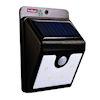 <FONT size=1> <b>Color de la Luz: </b> Blanco <br> <b>Watts: </b> 0.44 <br> <b>Celda Solar: </b> Si <br> <b>Fuente de Luz: </b> Bombillas LEd <br> <b>Tensión: </b> 6V <br> <b>Nivel de Protección: </b> IP65 <br> <b>Cantidad de Led: </b> 54 <br> <b>Lúmenes: </b> 80 <br> <b>Material: </b> ABS <br> <b>Batería: </b> Con  <br> <b>Batería Tipo: </b> Li, Litio  <br> <b>Batería Carga: </b> 2200 mAh <br> <b>Tiempo de carga: </b> 4 a 6Hrs <br> <b>Tiempo de trabajo: </b> 8Hrs <br> <b>Ángulo de inducción: </b> 120 <br> <b>Tipo de Sensor: </b> Movimiento <br> <b>Distancia de detección: </b> 3m <br> <b>Color: </b> Negro <br> <b>Aplicaciones: </b> Ideales para jardines, patios, gimnasios, entre otros <br> <b>Garantía: </b> 1 año <br> <b>Fabricación: </b> 0 a 15 <br> </FONT>