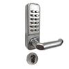 <FONT size=1> <b>Sistema:</b> Teclado Mecánico.<br> <b>Material:</b> Acero Inoxidable Aleación de Zinc.<br> <b>Acabado:</b> Plata Satinado.<br> <b>Resistencia:</b> Agua.<br> <b>Llave:</b> No necesita<br><b>Aplicaciones:</b> Es de gran utilidad en cualquier tipo de puertas exteriores e interiores, Cabinas de Pintura, Armarios, Cajones, Ventanas, Puertas de Acceso.<br> <b>Garantía:</b> 1 año.<br> <b>Fabricación:</b> Disponible.<br> </FONT>
