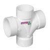 <FONT size=1> <b>Diámetro Nominal :</b>110x110 y 110x50mm.<br> <b>Tipo:</b> Tee Doble.<br> <b>Color:</b> Blanco.<br> <b>Material:</b> PVC.<br> <b>Norma:</b> NMX-E-199/1-SCFI-1998.<br> <b>Aplicaciones:</b> Es ideal para  sistemas sanitarios para desalojar por gravedad residuales domesticas o industriales, aguas pluviales.  <br> <b>Garantía:</b> 1 año.<br> <b>Fabricación:</b> 0 a 5 días hábiles.<br> </FONT>