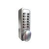 <FONT size=1> <b>Sistema:</b> Teclado Mecánico.<br> <b>Material:</b> Acero Inoxidable Aleación de Zinc.<br> <b>Acabado:</b> Cromo Satinado.<br> <b>Resistencia:</b> Agua.<br> <b>Llave:</b> No.<br> <b>Aplicaciones:</b> Es de gran utilidad en cualquier tipo de puertas exteriores e interiores, Cabinas de Pintura, Armarios, Cajones, Ventanas, Puertas de Acceso.<br> <b>Garantía:</b> 1 año.<br> <b>Fabricación:</b> Disponible.<br> </FONT>