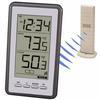 """<FONT size=1> <b>Uso:</b> Objetos.<br> <b>Unidades:</b> °C y °F.<br> <b>Temperatura Interior:</b> -9.9 a 59.9°C, 14.2 a 139.8°F.<br> <b>Temperatura Exterior:</b> -39.9 a 59.9°C, -39.8 a 139.8°F.<br> <b>Dimensión:</b> 8x10x2""""<br> <b>Color:</b> Gris.<br> <b>Aplicaciones:</b> Laboratorios, industrias, procesos, fabricas, maquinarias, alimentos, etc.<br> <b>Uso:</b> Sujeto a la pared o escritorio.<br> <b>Batería:</b> 2xAAA y 2x AA.<br> <b>Garantía:</b> 1 año.<br> </FONT>"""