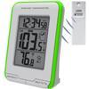 """<FONT size=1> <b>Uso:</b> Objetos.<br> <b>Unidades:</b> °C y °F.<br> <b>Temperatura Interior:</b> -0 a 50°C, 32 a 122°F.<br> <b>Temperatura Exterior:</b> -40 a 60°C, -40 a 140°F.<br> <b>Dimensión:</b> 7x10x2""""<br> <b>Color:</b> Gris con Verde.<br> <b>Aplicaciones:</b> Industrias, procesos, fabricas, maquinarias, alimentos, etc.<br> <b>Uso:</b> Sujeto al vidrio en el exterior de una ventana o puerta.<br> <b>Batería:</b> 4x AA.<br> <b>Garantía:</b> 1 año.<br> </FONT>"""