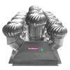 """<FONT size=1> <b>Material: </b> Aluminio Anodizado, Pintro ó Galvanizado<br> <b>Turbina: </b> 17"""" de Diámetro.<br> <b>Número de Turbinas: </b> Quince.<br> <b>Viento Máximo: </b> 240 Km/Hr.<br> <b>Estructura: </b> Con Sistema de Suspensión.<br> <b>Base: </b> Gigante de 36X118"""", hasta pendientes 45º.<br> <b>Resistencia a Corrosión:</b> Excelente<br> <b>Tipo de Baleros:</b> Sellados Permanentemente.<br> <b>Número de Baleros:</b> Dos.<br> <b>Balero AutoLubricado:</b> Sí<br> <b>Flecha:</b> Barra Cilíndrica Sólida.<br> <b>Acabado:</b> Aluminio Anodizado.<br> <b>Color:</b> Aluminio.<br> <b>Ecológico:</b> Sí, bi-híbrido, eolico+gravitatorio<br> <b>Ahorra Energía Eléctrica:</b> Sí<br> <b>Extrae:</b> Aire Caliente, Olores, Humos, Vapores, Ambientes Salinos, Ambientes Corrosivos, Polvo en Suspensión, etc.<br> <b>Aplicaciones:</b> Naves Industriales, Almacenes, etc.<br> <b>Garantía:</b> Hasta 30 años<br> </FONT>"""