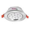 <FONT size=1> <b>Material:</b> Aluminio.<br> <b>Terminado:</b> Níquel Satín.<br> <b>Diámetro de Perforación:</b> 95mm.<br> <b>Equivalencia de Watts:</b> 7w LED, 14w Fluorescente ó 56w  Incandescente.<br> <b>Tipo de Lámpara:</b> LED.<br> <b>Ángulo de Apertura:</b> 30°.<br> <b>Índice de Protección:</b> 50 IP.<br> <b>Duración:</b> 35000 hrs.<br> <b>Alimentación:</b> 85/265VAC. <br> <b>Lúmenes:</b> 510.<br> <b>Consumo:</b> 7 watts.<br> <b>Color de Luz:</b>  Blanco Cálido ó Blanco Frio.<br> <b>Aplicaciones:</b> Ideales para centros comerciales, hoteles, oficinas, edificios, restaurantes, teatros, plazas comerciales, hoteles, universidades, colegios, escuelas, etc. <br> <b>Garantía:</b> 1 año.<br> <b>Fabricación:</b> Disponible.<br> </FONT>