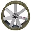 """<FONT size=1> <b>Caudal: </b>8920 hasta 51820 m³/hr. <br> <b>Presión Estática: </b>hasta 3""""cda ó 76 mmcda.<br> <b>Aspas: </b>24, 30, 36 y 42""""Ø .<br> <b>Material Aspas: </b> Aluminio Inyectado.<br> <b>Color: </b> Gris.<br> <b>Material Carcasa: </b> Acero al carbón .<br> <b>Color: </b> Verde opaco.<br> <b>Acoplamiento: </b>Directo.<br> <b>Motor: </b>1/2  a 7.5HP. <br> <b>Voltaje: </b> 220/440V.<br> <b>Fases: </b> 3<br> <b>Polos: </b>4, 6 y 8.<br> <b>Uso: </b> Interior ó  Exterior.<br> <b>Temperatura: </b>Hasta 120 °C<br> <b>Nivel Sonoro: </b>64 hasta 81 dB.<br> <b>Acabado: </b> Pintura Electrostática.<br> <b>Flujo: </b> Inyector o Extractor. <br> <b>Aplicaciones:  </b>Proyección de conductos, torres de enfriamiento, extracción de humo, gases de estacionamientos, túneles, etc.<br> <b>Norma: </b> NEMA. <br> <b>Garantía: </b> 1 año.<br> <b>Fabricación: </b> 0 a 10 días hábiles.<br> </FONT>"""