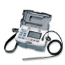 <FONT size=1><br> <b>Anemometer Type:</b> Large Display Portable Air Velocity and Air Temperature Measurements with optional Differential Pressure Measurements<br> <b>Printer:</b> With and with out printer<br> <b>Air Velocity Range:</b> 20 to 9840FPM, 0.10 to 50.0m/s<br> <b>Air Temperature Range:</b> 32 to 212°F, 0 to 100°C<br> <b>Probe Types:</b> Air Velocity and Temperature probe included, with optional Differential Pressure probe<br> <b>Selectable Data Output:</b> Analog DC 0 to 1Volt, Digital RS-232C, optional USB adaptor, printer option<br> <b>Data Management:</b> 100 Measurement Storage, Maximum and Minimum values, Average, Raw Data Display<br> <b>Software:</b> Windows Software available<br> <b>Power Supply:</b> 6x1.5V C batteries, AC to 9VDC Adaptor<br> <b>Resolution:</b> 0.01 m/s for range of 0 to 9.99m/s, 0.1 m/s for 10 m/s or more<br> <b>Warranty:</b> 1 year<br> </FONT>