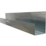 Uso Residencial, Comercial e Industrial. Canaleta Fabricada en lámina Galvanizada o Lámina Pintro. Calibre 26. Longitud de 3m. Dimensiones de 6x10x10cm y 8x12x14cm.