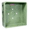"""<FONT size=1> <b>Diámetro Nominal :</b> 13 hasta 50mm ó ½ hasta 2"""". <br> <b>Tipo:</b>Caja Cuadrada. <br> <b>Color:</b> Verde. <br> <b>Material:</b> PVC. <br> <b>Aplicaciones:</b> Es ideal para para instalación eléctrica de casa habitación, multifamiliar, turística, industrial, institucional. <br> <b>Garantía:</b> 1 año. <br> <b>Fabricación:</b> 0 a 5 días hábiles. <br> </FONT>"""