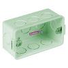 """<FONT size=1> <b>Diámetro Nominal :</b> 13mm ó ½ """".<br> <b>Tipo:</b>Caja Rectangular. <br> <b>Color:</b> Verde. <br> <b>Material:</b> PVC. <br> <b>Aplicaciones:</b> Es ideal para para instalación eléctrica de casa habitación, multifamiliar, turística, industrial, institucional. <br> <b>Garantía:</b> 1 año. <br> <b>Fabricación:</b> 0 a 5 días hábiles. <br> </FONT>"""