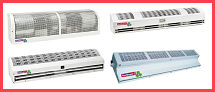 We can supply you with any of your air curtain needs whether it be for industrial or commercial use, our air curtains will help with maintaining heat, cooling, keeping a clean atmosphere, health and hygiene. Used in places such as factories, warehouses, supermarkets and restaurants for the control of winter cold air, summer warm air, wind draughts, pests, insects, dust pollution, plus fumes and bad odors, our selection of units are perfect for creating a comfortable atmosphere. We have a large choice of air curtain options, whether you are after a re-circulating air curtain or a non re-circulating type, single or double shaft, axel drives, winch drives or multi-speed drive.  So if you need an air curtain for your factory, mill, warehouse, greenhouse or commercial building we have what you need.