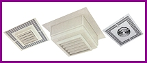 The Down flow fan forced heaters are used for residential, commercial and industrial use. Some of the heaters have the options of louvers (for directional heat), and/or recessed or ceiling mount. Use where ever the use of downward heat is needed.