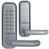 <FONT size=1> <b>Sistema:</b> Teclado Mecánico.<br> <b>Material:</b> Acero Inoxidable Aleación de Zinc.<br> <b>Acabado:</b> Plata Satinado.<br> <b>Resistencia:</b> Agua.<br> <b>Llave:</b> No <br><b>Aplicaciones:</b> Es de gran utilidad en cualquier tipo de puertas exteriores e interiores, Cabinas de Pintura, Armarios, Cajones, Ventanas, Puertas de Acceso.<br> <b>Garantía:</b> 1 año.<br> <b>Fabricación:</b> Disponible.<br> </FONT>