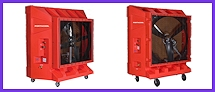 The Explosion Proof Evaporative coolers are designed to work with out producing any sparks or ignition of combustible air. Proper ventilation is needed to accomplish comfortable temperatures. Remember you can cool effectively hot dry areas with evaporative cooling.