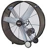 "For Industrial and Commercial use. 42"" diameter. 9500 to 13000 CFM. 115 V. 1/2 HP. 2 Speeds. Belt Drive."