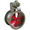 """<FONT size=1> <b>Caudal: </b>1146 hasta 12545m³/hr. <br> <b>Presión Estática: </b>hasta 1.6"""" cda ó 40 mmcda <br> <b>Aspas: </b> 10, 12, 16, 20 y 24""""Ø .<br> <b>Material Aspas: </b> Aluminio.<br> <b>Color: </b>Rojo.<br> <b>Material Carcasa: </b> Acero al carbón .<br> <b>Color: </b>Cafe.<br> <b>Acoplamiento: </b>Polea y banda.<br> <b>Motor: </b>1/2 hasta 1 HP. <br> <b>Voltaje: </b> 220/440V.<br> <b>Fases: </b> 3<br> <b>Uso: </b> Interior ó  Exterior.<br> <b>Temperatura: </b>Hasta 85 °C<br> <b>Nivel Sonoro: </b>64 hasta 75 dB.<br> <b>Acabado: </b> Pintura Electrostática.<br> <b>Flujo: </b> Inyector o Extractor. <br> <b>Aplicaciones: </b>Uso en cabinas de pintura, campanas de extracción, procesos industriales, extracción de humo, impulsión de aire en conductos, etc. <br> <b>Garantía: </b> 1 año.<br> <b>Fabricación: </b> 0 a 15 días hábiles.<br> </FONT>"""