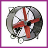 "For Industrial and Commercial use. 36, 42, 48, and 60"" diameter. 12100 to 30100 CFM. 115 V. 1/2 to 1.5 HP. Belt Drive."