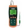 <FONT size=1> <b>Aplicación:</b> Calidad del Agua.<br> <b>pH:</b> 0.00 a 14.00 <br> <b>Temperatura:</b> 0 a 65ºC <br> <b>mV:</b> -999 a 999<br> <b>Resolución:</b> 0.01Ph,1mV,0.1°<br> <b>Escalas:</b> pH, mV y Temperatura . <br> <b>Memoria SD:</b> Si <br> <b>Tipo de Sonda:</b> Mini Electrodo de pH por cable y sonda de temperatura por termistor.<br> <b>Color:</b> Verde/naranja <br> <b>Aplicaciones:</b> Trabajo de Campo, Industrias, Hospitales, Comercios, Edificios, Laboratorios, Bodegas, etc.<br> <b>Batería:</b> 6 Baterías AA de 1.5VCD.<br> <b>Garantía:</b> 1 año. <br> <b>Fabricación:</b> 0 a 10 días hábiles. <br> </FONT>