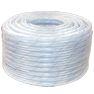 """<FONT size=1> <b>Material:</b> PVC-P(Vinilo).<br> <b>Diámetro:</b> 1/4  a 1 1/2"""".<br> <b>Longitud:</b> 50 ó 100m.<br> <b>Presión:</b> 50 ó 230 PSI.<br> <b>Temperatura:</b> 5 a 60°C.<br> <b>Color:</b> Transparente.<br> <b>Flexibilidad:</b> Alta. <br> <b>Rigidez :</b> Alta.<br> <b>Resistencia de Succión: </b> Alta. <br> <b>Resistencia Abrasión: </b> Alta.<br> <b>Aplicaciones:</b> Es ideal para el uso de conducción de productos alimentarios como jugos, refrescos, y agua. <br> <b>Garantía:</b> En base al Uso.<br> <b>Fabricación:</b> 0 a 3 días hábiles.<br> </FONT>"""