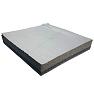 """Uso Industrial, Comercial, Residencial. Coefieciente de Transmisión de Sonido (STC) 34. Material Acústico de hule espuma de poliuretano de 1"""" de espesor y una capa de vinil de alta densidad. Acabado a una cara con película aluminizada y reforzada. Disponible en panel."""